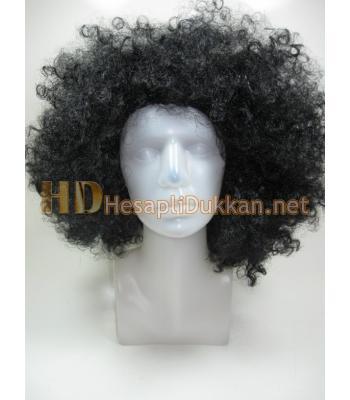Kıvırcık bonus siyah peruk R544