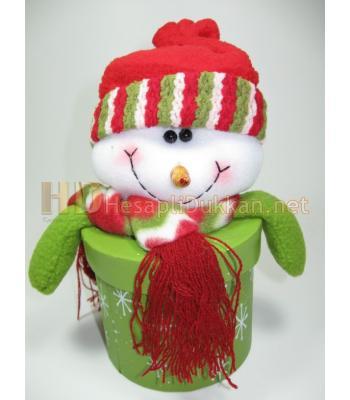 Kardan adam şeklinde yılbaşı hediye kutusu R658