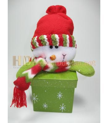 Kardan adam figürlü yıbaşı hediyelik kutu R659