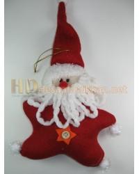 Kırmızı peluş yıldız noel baba yılbaşı ağacı süsü R671