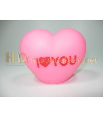 i love you yazılı renk değiştiren pembe lamba AL131