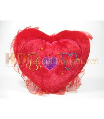 Tüllü i love you mesajlı sevgililer günü yastığı AL132