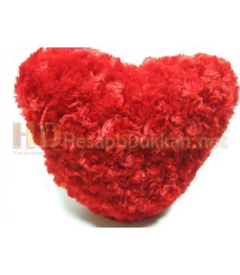 Sevgililer günü kalp yastık - Kırmızı peluş AL144