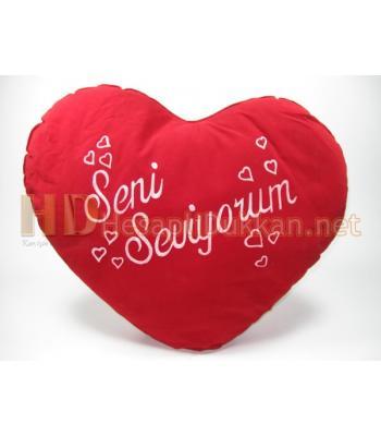 Sevgililer günü kalp yastık - 9 Numara AL143