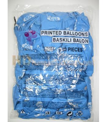 1 yaş balonu erkek çocuk için mavi AL142