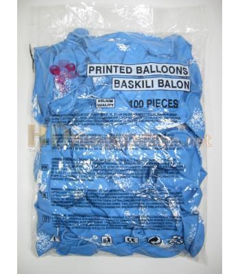Hoş geldin bebek balonu erkek çocuk için mavi AL143