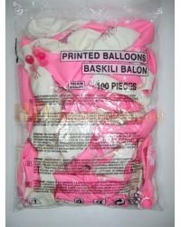 Hoş geldin bebek balonu kız çocuk için pembe AL144