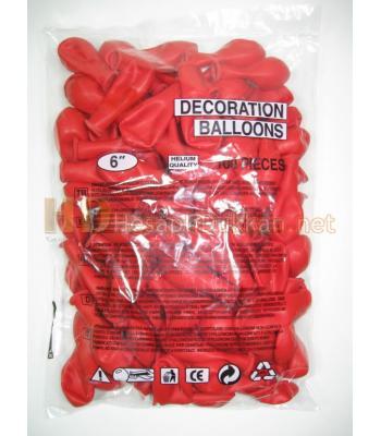 6 inc balon kırmızı AL147