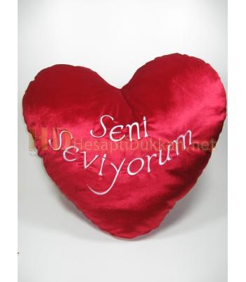 Dev sevgililer günü peluş kalp 60 cm R687