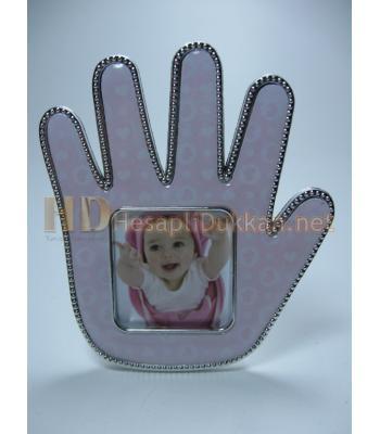 El şeklinde magnet çerçeve bebek hediyesi R698