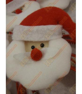 Noel baba şeklinde yaylı sallantılı yılbaşı taçları R180