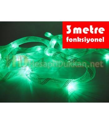 3 metre yeşil ışıklı kumaş hortum yılbaşı ışığı R643