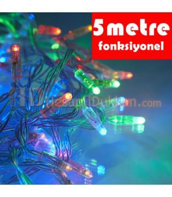 Beş metre şeffaf kablo karışık renk fonksiyonel yılbaşı ışığı