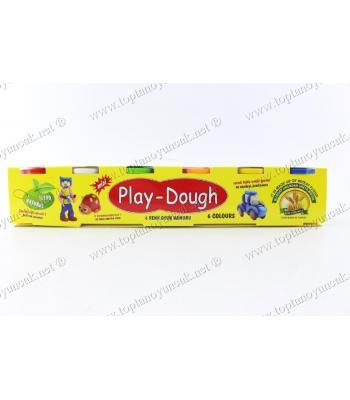 Toptan oyun hamuru 6 lı 6 renk ucuz fiyat promosyon oyuncak