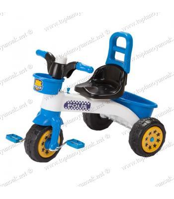 Toptan oyuncak çocuk bisikleti 3 teker polis kornalı