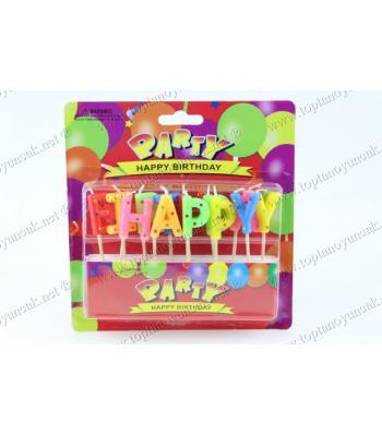 Toptan doğum günü mumu renkli happy birthday