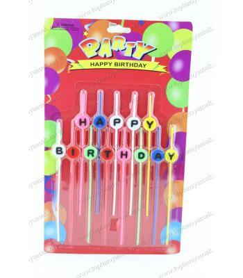 Ucuz toptan pasta mumu stick happy birthday renkli
