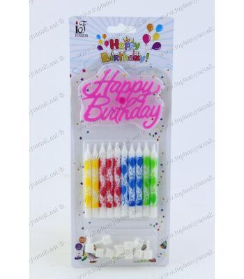 Doğum günü mumu toptan 10 lu paket balon motif