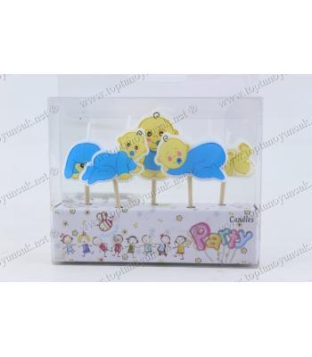 Bebek mumları doğum günü pasta toptan ucuz