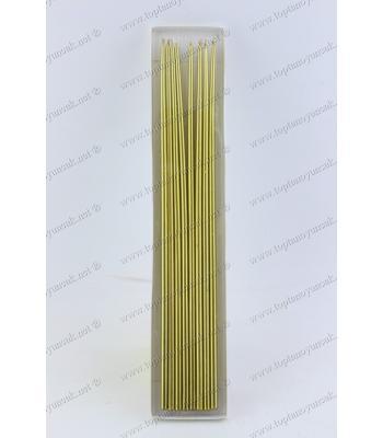 Toptan ucuz parti mumu doğum günü 35 cm altın sarısı