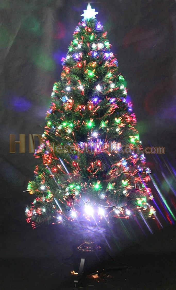 fiber ışıklı yılbaşı ağacı