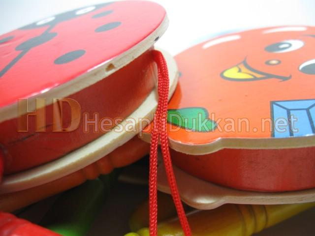Ahşap renkli figürlü davullar promosyon oyuncak Hesaplı Dükkan