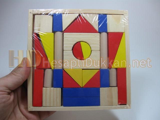Ahşap blok puzzle ahşap yapboz eğitici oyuncak Hesaplı Dükkan