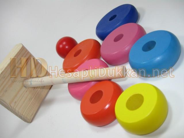 Hanoi kulesi Zeka oyuncağı Ahşap oyuncaklar Hesaplı Dükkan